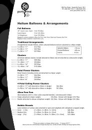 Helium Inflated Balloons - Party Time