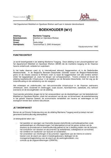 BOEKHOUDER (M/V) - Jobpunt Vlaanderen
