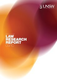 Law Faculty Research Report 2009 - UNSW Law - University of New ...