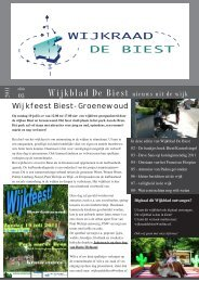 Wijkblad De Biest nieuws uit de wijk