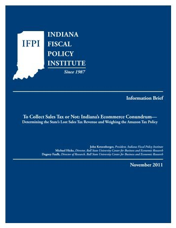 Information Brief To Collect Sales Tax or Not - Indiana Fiscal Policy ...