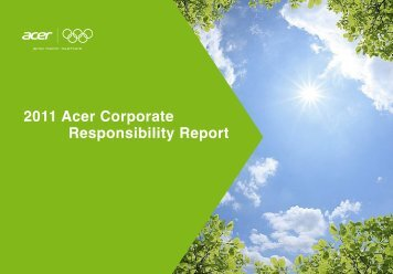 2011 Acer Corporate Responsibility Report - Acer Group