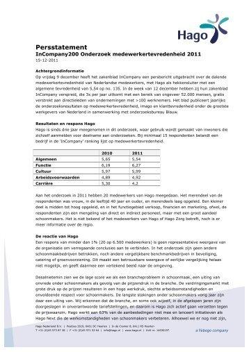 11.12.15 - Persstatement InCompany onderzoek ... - Vebego