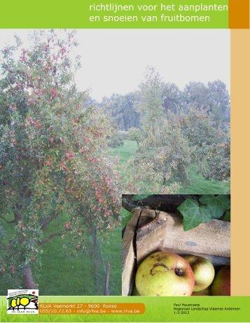 richtlijnen voor het aanplanten en snoeien van fruitbomen