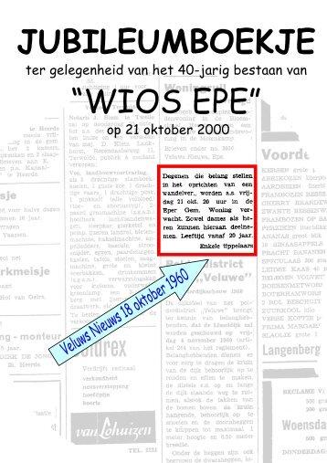 De eerste 40 jaar van de vereniging - WIOS EPE
