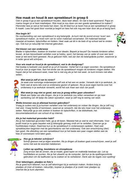Hoe Maak En Houd Ik Een Spreekbeurt In Groep 6