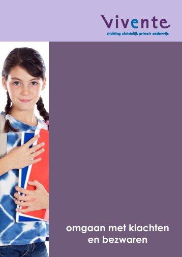 Brochure omgaan met klachten en bezwaren