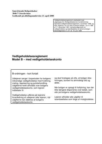 3040-7_vedligeholdelsesreglement - KAB