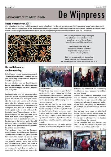 De Wijnpress 2010 2011, editie 1 - De Wijnpers