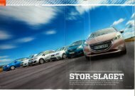 Sex amåöiI-ar står på etartlinjen. Chevrolet, Kia, Peugeot, Seat ...