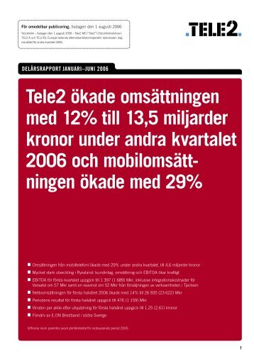 Read more - Tele2