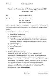 Protokoll der Versammlung der Regionalgruppe Nord vom VSGK ...