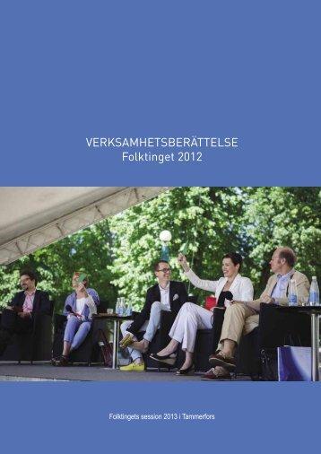 VERKSAMHETSBERÄTTELSE Folktinget 2012 - Svenska Finlands ...