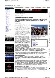 Politiken d.18.8.03: Langsom rejsejagt på nettet. - Rejsemanualen