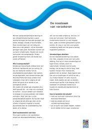 De noodzaak van verzekeren - versie juni 2009 - Woonstad Rotterdam