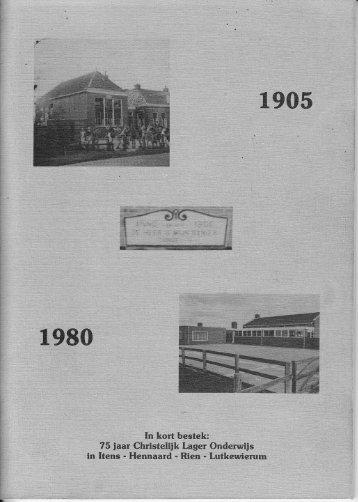1980 75 jaar Christelijk onderwijs Itens - Lytsewierrum.nl