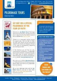 Download Pilgrimage Tours Brochure here - Joe Walsh Tours