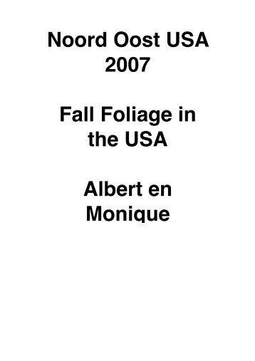 Amerika 2007 najaar – Noord Oost – Fall Foliage - Casa Dos ...