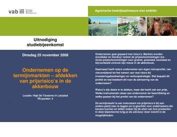 Uitnodiging en programma termijnmarkten 251108_1.pdf - VAB