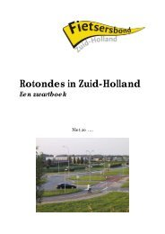 Zwartboek rotondes in ZH 2e - Drechtsteden - Fietsersbond