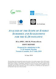 ANALYSIS OF THE SCOPE OF ENERGY SUBSIDIES AND - OECD