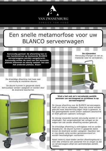 BLANCO serveerwagens - Van Zwanenburg