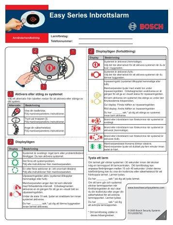 Användarhandledning (877 KB) - Bosch - Security Systems