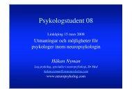 Psykologstudent 08 i Linköping finns här - Håkan Nyman