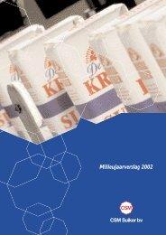 Milieujaarverslag 2002 - Duurzaamheidsverslag