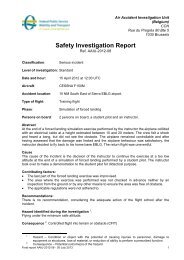 Safety Investigation Report - Belgium