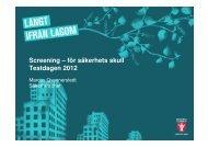 Screening – för säkerhets skull - Sveriges HR Förening