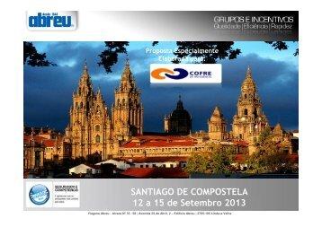 Santiago de Compostela - 12 a 15 de Setembro - Congressos - Abreu