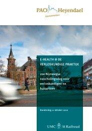 E-HEALTH @ DE VERLOSKUNDIGE PRAKTIJK ... - PAO Heyendael