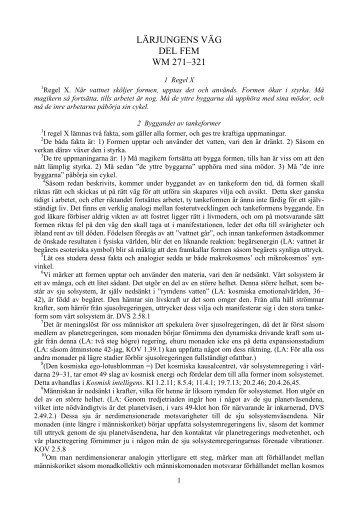 LÄRJUNGENS VÄG DEL FEM WM 271–321 - Livskunskap