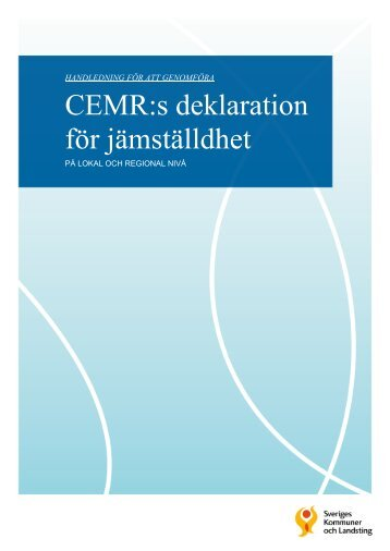 CEMR:s deklaration för jämställdhet