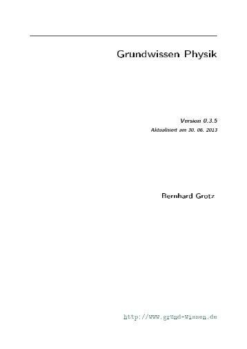 Grundwissen Physik