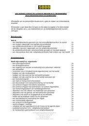 Veiligheidschecklist - SBBB - Stichting beveiliging ...