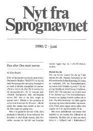 1990/2 . juni - Dansk Sprognævn