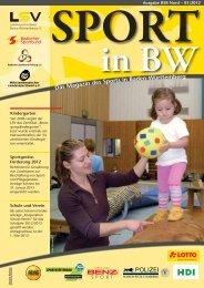 Sport in bw Nr. 03/12 - Badischer Sportbund Nord ev