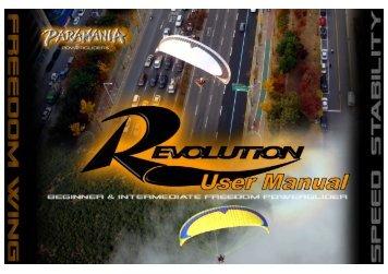 Paramania Revolution Powerglider Owner's Manual