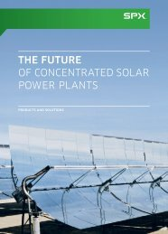 THE FUTURE OF CONCENTRATED SOLAR POWER PLANTS