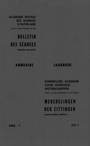 (1964) n°1 - Royal Academy for Overseas Sciences