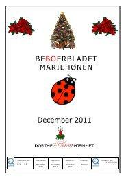 December 2011 - Mariehjemmene
