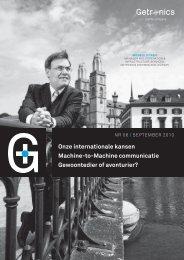 Onze internationale kansen Machine-to-Machine communicatie ...