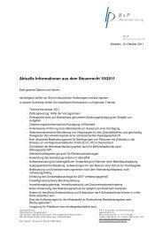 Aktuelle Informationen aus dem Steuerrecht 10/2011 - B & P ...