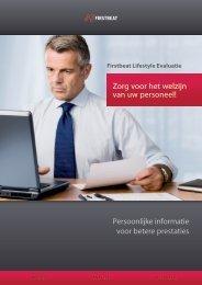 Persoonlijke informatie voor betere prestaties Zorg voor het welzijn ...