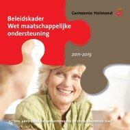 Wmo beleidsplan (pdf) - Gemeente Helmond