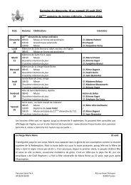 horaires d'été - Diocèse Fréjus-Toulon