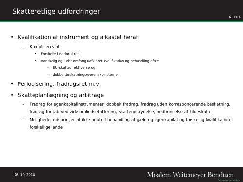 (Danish), dated 17 September 2010 by Jakob ... - Corit Advisory
