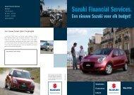 Brochure Suzuki Financial Services